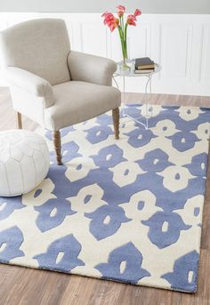 nuLOOM Cobalt Blue Palazzo | Contemporary Rugs