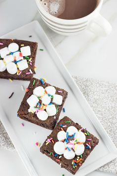 Irresistibly Chewy Brownies made with hot chocolate mix. I tried these and they turned out really well!!
