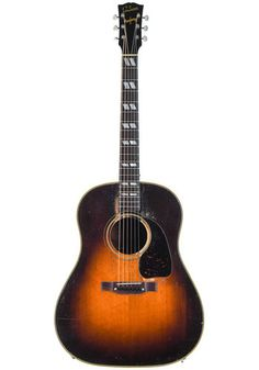 Gibson Gibson Banner Southern Jumbo Sunburst 1944 Black Felt, Body Shapes, Southern, Banner, Banner Stands, Black Fedora, Banners, Body Forms
