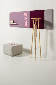 Cascando Pillow #wandpanelen. Multifunctionele #design wandpanelen voor een #akoestische oplossing.