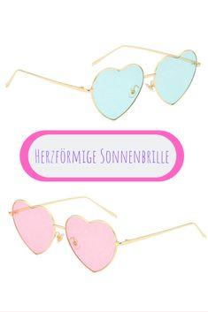 Sonnenbrille Damen Retro Herz Pin up Vintage Blau Blogger Trend Pink Festival