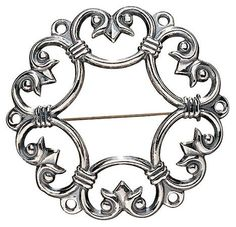 SUOTNIEMI BROOCH by Finnish jewelry company Kalevala Koru. Originals jewelries ancient Finnish jewelry from Bronze or Iron Age.  material: silver