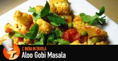 Ricetta delle patate (aloo) con cavolfiori (gobi), pietanza tipica del nord dell'India, da mangiare con chapati o riso.