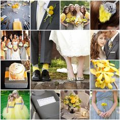 yellow+and+gray+themed+wedding | Photos courtesy of Style Me Pretty