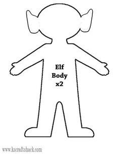 Felt Elf doll body template