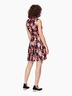 shadow buds pleated dress   Kate Spade New York