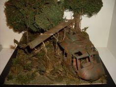 Shot down Huey Vietnam 1:35.