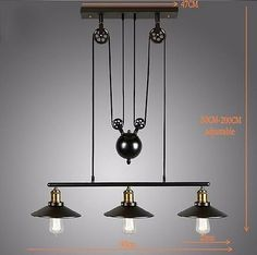 Vintage Ceiling Lights That Are On Pullys Industrial