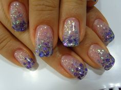 Glitter Nail Design. Or is that the tips?? Love either way.