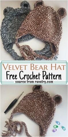 Crochet Toddler Hat, Crochet Bear Hat, Crochet Baby Hat Patterns, Crochet Kids Hats, Crochet Beanie Pattern, Crochet Teddy, Crochet Baby Clothes, Crochet Baby Stuff, Crochet For Baby
