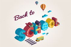Check out Back to school illustration by Marish on Creative Market