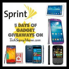 Sprint 5 Days of Gadget Giveaways on TechSavvyMama.com