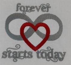 Digital Embroidery Design  Forever starts by EmbroideryDesignsBRN