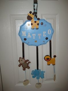 Bows for Hospital Door   For my first baby, I wanted to make a cute hospital door hanger! this ...