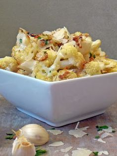 Life Tastes Good: Roasted Parmesan Garlic Cauliflower @Allrecipes #Cauliflower #Healthy #Side #vegetable