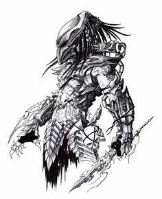 aliens and predator favourites by mydole on deviantart Alien Vs Predator, Predator Cosplay, Predator Movie, Predator Alien, Arte Horror, Horror Art, Predator Tattoo, Les Aliens, Arte Ninja