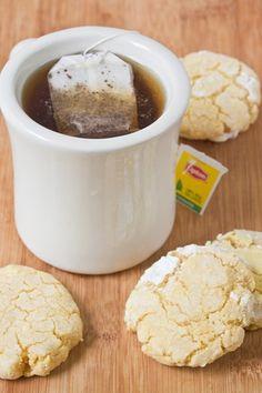 Gluten-Free Lemon Crinkle Cookies Tea