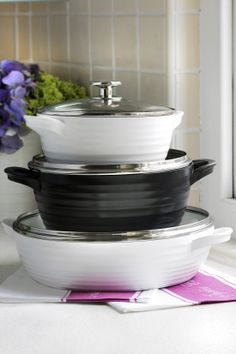 Casserole Pans: from £70.00 http://www.sophieconran.com/cookware#page=1&top=934&