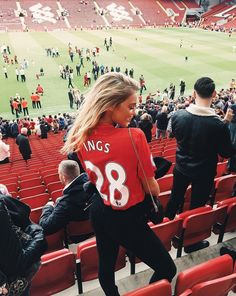 Danny Ings girlfriend at the last game of the season at anfield.