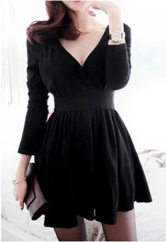 Cute v-neck dress