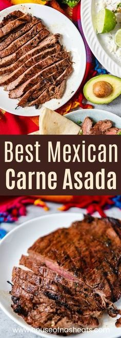 This authentic carne asada recipe makes the most delicious grilled beef that is perfect for eating on its own or adding to tacos, salads, or burritos! == CLICK THROUGH TO SEE! Grilling Recipes, Pork Recipes, Cooking Recipes, Carne Asada Recipes Easy, Chicken Recipes, Healthy Recipes, Vegetarian Recipes, Beef Dishes, Food Dishes