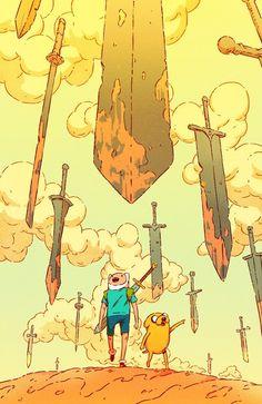 Adventure Time Subscription Cover on Behance Finn Mertens The Human Jake The Dog Art Adventure Time, Adventure Time Wallpaper, Adventure Time Drawings, Adventure Time Background, Adventure Time Cartoon, Adventure Time Characters, Fin And Jake, Jake The Dogs, Cartoon Kunst