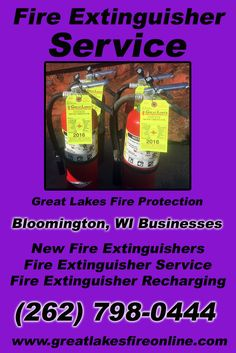 Fire Extinguisher Service Bloomington, WI (262) 798-0444We're Great Lakes Fire Protection.. The Main Source for Fire Protection for Wisconsin Businesses. Call Today!  We would love to hear from you.