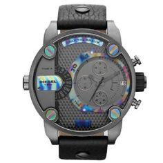 Diesel - DZ7270 - Montre Homme - Quartz Chronographe - Chronomètre/ Aiguilles lumineuses - Bracelet Cuir Noir