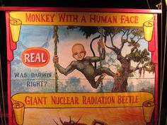 """Vintage Poster Freak Show """"Monkey With A Human Face"""""""