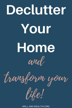 When I decluttered my home the effect was incredible. I instantly felt better, my depression improved and I had more time! So I'm going to show you how to declutter your home and transform your life! I'm now moving towards minimalism and living a more minimalist life because of the benefits. Here is a decluttering plan, with plenty of decluttering tips and ideas to stop you from feeling overwhelmed, and simplify and organise your home. #declutter #decluttering #decluttermyhouse