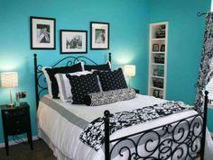 Tiffany Blue Black And Purple Bedroom Turquoise Room