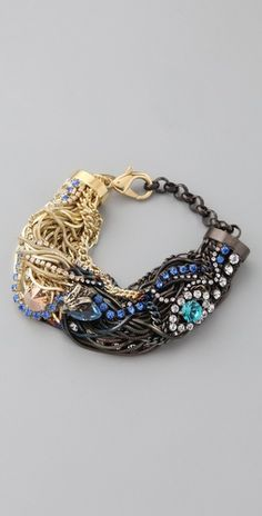 Shopbop - Losselliani Shaded Fringe Multi Chain Bracelet > retails for $424