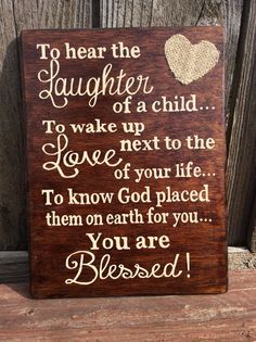 You are Blessed Hand Painted Wooden Sign with by InvestYourLove