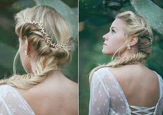 bridal Hair accessories, Brides Headpieces, Gentle Gold Leafs Hair Wreath, gold Leaf Crown, Wedding Headband, bridal accessories, tiara on Etsy, 66,76€