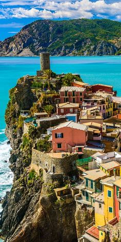 Gorgeous Vernazza in Cinque Terre, Italy.