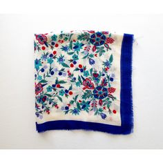 Vintage Wool Shawl Folk Floral Scarf Peasant Wrap Kerchief Oscar de la... ($26) ❤ liked on Polyvore featuring accessories, scarves, vintage shawl, floral print scarves, oscar de la renta scarves, vintage scarves and shawl scarves