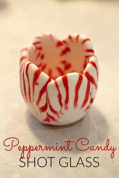 Peppermint Candy Shot Glass