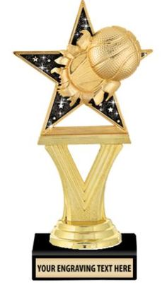 Need Girls Basketball Trophies? These Glitter #Basketball Starburst Tropies Are Great For All Participants. http://www.crownawards.com/StoreFront/TRBT6.Basketball.Trophies.Blaster_Trophy.prod