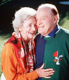 Bob & Dolores Hope were married for 69 years until he died in 2003 at age 100, and she died in 2011 at age 102.