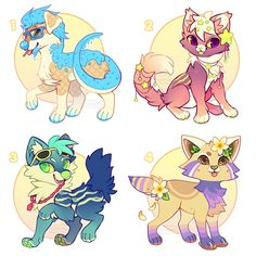 Summer Collab Adopts Auction [Closed] by Kawiku on DeviantArt