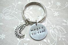 Magic Keychain Wizard Keychain Magic Accessory by BeautyInBaubles
