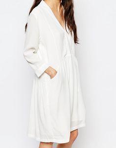 Image 3 ofJust Female Lola Smock Dress in White