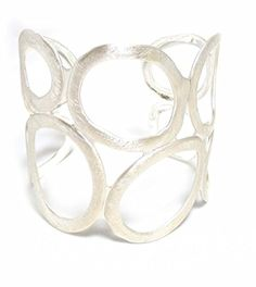 Takobia Silvertone Geometric Circles Cutout Cuff Bracelet by Takobia -- Awesome products selected by Anna Churchill