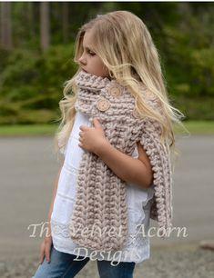 Knitting PATTERN-The Eavan Scarf Small Medium by Thevelvetacorn