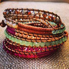 Golden Goddess Leather Wrap Bracelet