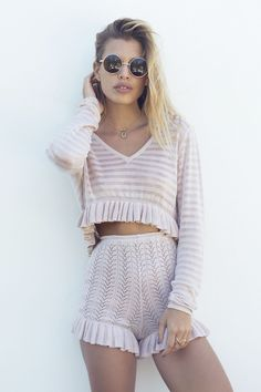 LIMITED EDITION - BABYMILK DUSTY PINK CARDI CROP