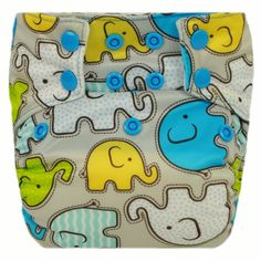 Moraki - One Size AI2/Pocket Diaper ~ Elephunk, $31.00 (http://www.morakicloth.com/one-size-ai2-pocket-diaper-elephunk/)
