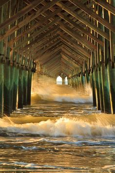 Underneath the pier at Folly Beach, South Carolina.