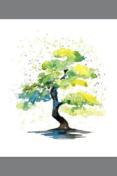Ideas for abstract watercolor tree tattoo beautiful Watercolor Tattoo Tree, Watercolor Trees, Watercolor Landscape, Abstract Watercolor, Landscape Paintings, Watercolor Paintings, Watercolor Water, Landscape Tattoo, Abstract Nature