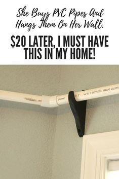PVC pipes are a lot more versatile than you think. Try this great home decor pro. PVC pipes are a lot more versatile than you think. Try this great home decor project! Diy Deco Rangement, Rideaux Design, Diy Home Decor For Apartments, Diy Casa, Diy Curtains, Bedroom Curtains, How To Hang Curtains, Window Treatments Living Room Curtains, Curtain Ideas For Living Room